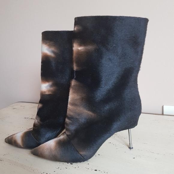 ❤Kurt Geiger London❤ Fur and leather booties